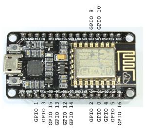 ESP8266-12E pins